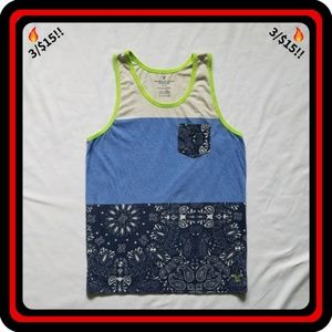 🔥3/$15🔥 AEO Athletic Fit Blue & White Tank Top